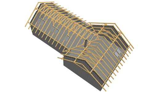 3D návrh vazby střechy, zdroj: strechy-novak.cz